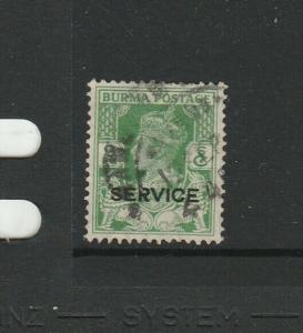 Burma 1939 Opt Service. 9p used SG O17