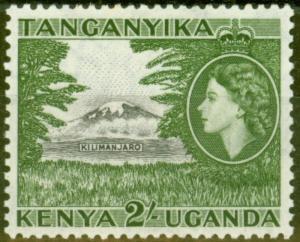 KUT 1954 2s Black & Green SG177 Fine & Fresh Very Lightly Mtd Mint