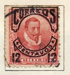 Chile 1904 Early Issue Fine Used 12c. Surcharged Optd NW-11420