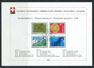 Switzerland 580-1 1973 Europa PTT Collection Sheet FD