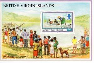 Virgin Islands 1998 Sc#896 Gathering Salt-DOG-Island Scenes Souvenir Sheet  MNH