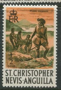 St. KITTS-NEVIS-Scott 206 -Definitives-1970- MNH - Single 1/2c Stamp