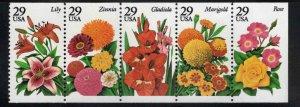 USA Scott 2760-2764 MNH** Flower stamp vertical strip