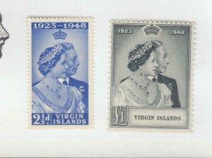 VIRGIN ISLANDS # 90-91 VF-MNH KGV1 1948 SILVER WEDDING (VIRGIN22)
