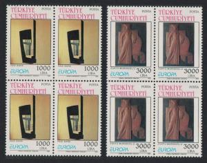 Turkey Europa Contemporary Art 2v Blocks of 4 SG#3180-3181