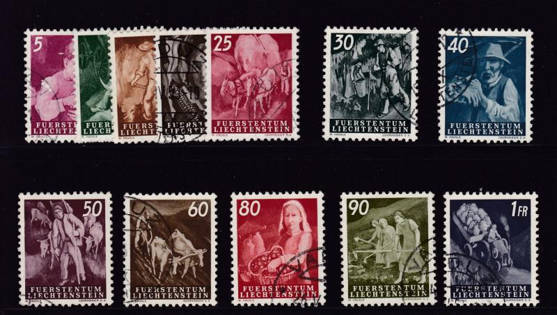 Liechtenstein  1951 New Definitive Scenes  VF+/Used(o)