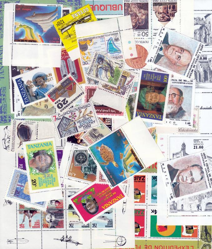 Selection of MNH Worldwide Souvenir Sheets, Sets, and Singles. No Duplication!