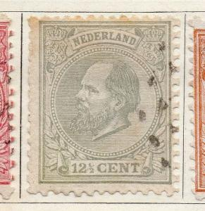 Holland 1872 Early Issue Fine Used 12.5c. 098985