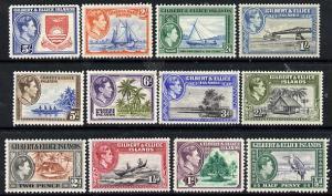 Gilbert & Ellice Islands 1939 KG6 definitive set comp...