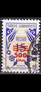 TÜRKEI TURKEY [Dienst] MiNr 0186 ( O/used )