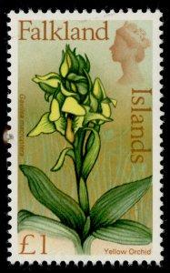 FALKLAND ISLANDS QEII SG245, £1 multicoloured, NH MINT. Cat £12.