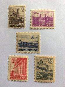 Estonia 1941 Occupation mint hinged x5