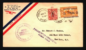 Panama 1929 FFC to NY - Z17482