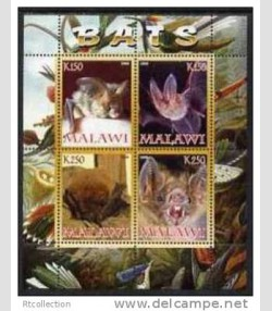 BATS Sheet (4) Perforated Mint (NH)