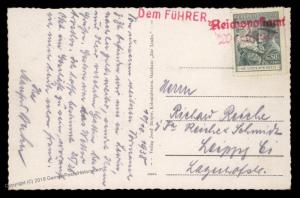 3rd Reich Germany 1938 Warnstadt Sudetenland Annexation Provisional Cover 90458