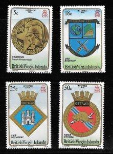 British Virgin Islands  (1974)  - Scott # 266 - 269, MNH