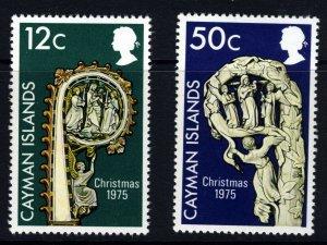 CAYMAN ISLANDS QE II 1975 The Christmas Set SG 396 & SG 397 MINT