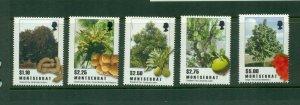 Montserrat #1227-31 (2009 Trees set) VFMNH CV $10.50