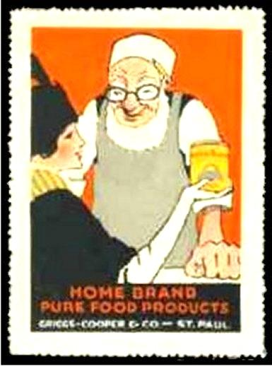 Home Brand Pure Food Products Advertising Poster Stamp