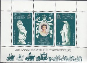 British Antarctic, SW 71-73, MNH, 1978, 25th Anniv of Coronation