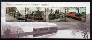 Great Britain Sc 3197 2013 Northern Ireland Steam Locos stamp sheet mint NH