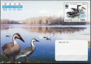 Korea 2004. Swan Goose (Anser cygnoides) (Mint) Aerogram