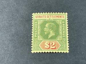 STRAITS SETTLEMENTS # 166--MINT/HINGED----SINGLE----1915