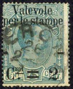 Italy Sc# 61 Used 1890 2c on 75c King Humbert I