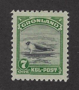 Greenland Scott 12 Mint Hinged