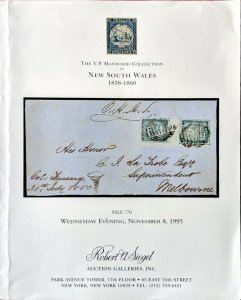 Auction Catalogue VP Manwood NEW SOUTH WALES 1838-1860 Australia Stamps Covers