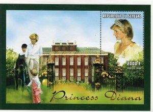 Senegal MNH S/S Princess Diana With Children 1998