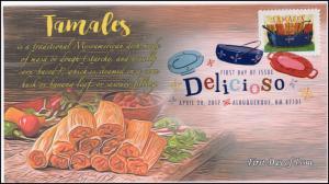 17-093B, 2017, Delicioso, Tamales, FDC, Digital Color Postmark,