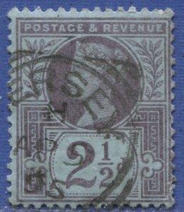 GB 1887  Sc 114  2-1/2p violet  Used, F-VF,  SG 201, Jersey cancel