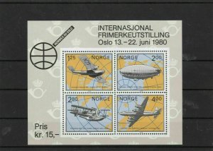 norway 1980  stamp sheet mint never hinged   ref 7218