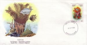 Nevis FDC SC# 506 Vase Sponge & Feather Star L80