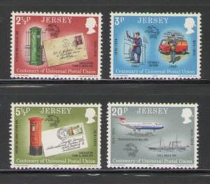 Jersey Sc 99-102 1974 UPA Anniv stamps mint NH