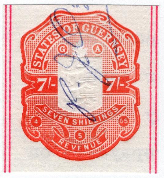 (I.B) Guernsey Revenue : Impressed Duty 7/-