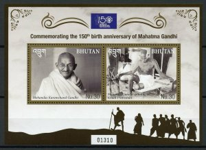 Bhutan Stamps 2019 MNH Mahatma Gandhi Famous People Historical Figures 2v M/S