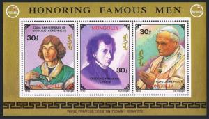Mongolia 2121ac,2122-2123,MNH. POLSKA-1993.Copernicus,Chopin,Pope John Paul II.