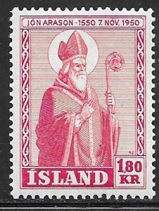 Iceland 269: 1.80 kr Bishop Arason, MH, VF