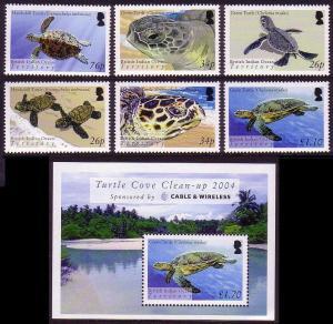 BIOT Turtles 6v+MS SG#312-MS318 SC#290-296