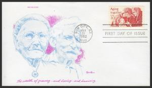 US FDC #2011 20c Aging Together - Tudor House Cachet