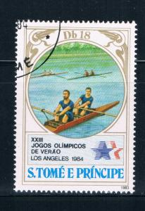 Saint Thomas and Prince Islands 725b Used Rowing (GI0436)+