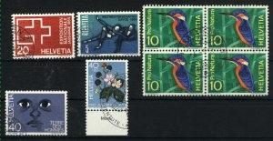 Switzerland  431, 470, 4x473, 584, B420   used VF PD