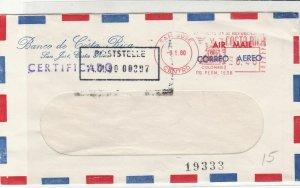 Costa Rica 1980 From Banco de Costa Rica Airmail Machine Stamp Cover Ref 29717