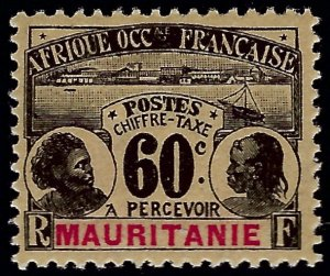 Mauritania Sc J7 Mint OG VF SCV$15...Colonies are in demand!