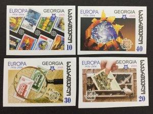 Georgia 2006, #390-3 Imperforate, Europa 50th Anniversary, MNH.