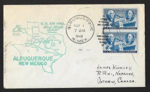 UNITED STATES First Flight Cover 1948 Albuquerque-Lubbock