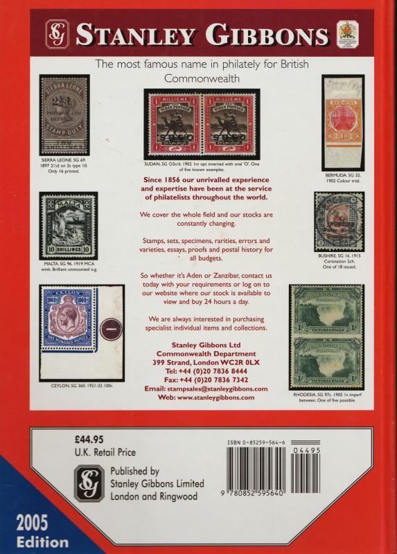 Stanley Gibbons Commonwealth & British Empire 2005