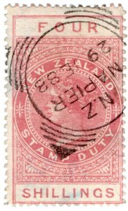 (I.B) New Zealand Revenue : Stamp Duty 4/- (Napier)